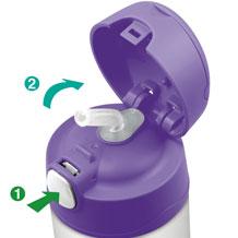 Thermos Funtainer - termoska pro děti - otvírání