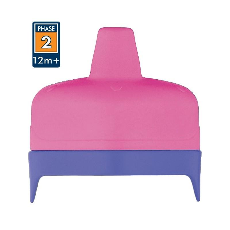 Tvrdé pítko pro kojeneckou termosku a láhev - růžová