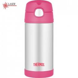 Dětské termosky s brčkem - růžová