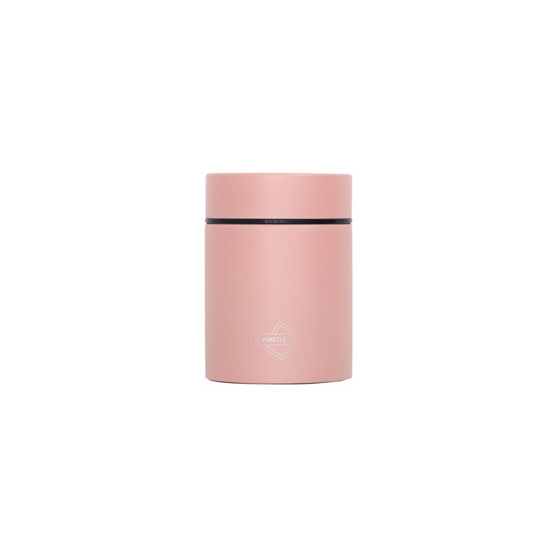 Kapesní termoska na jídlo POKETLE - peach pink
