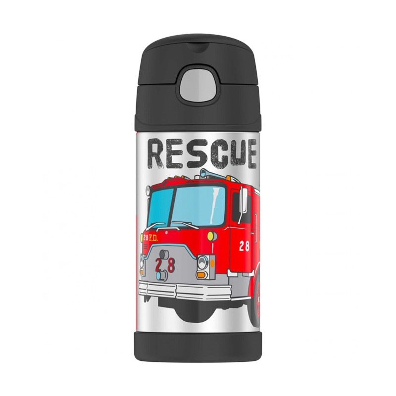Dětská termoska s brčkem - hasiči