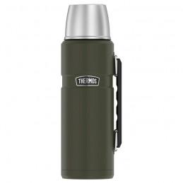 Termoska na nápoje s madlem - vojenská zelená