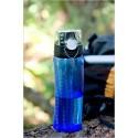 Hydratační láhev s počítadlem - světle modrá