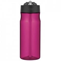 Hydratační láhev s brčkem - purpurová
