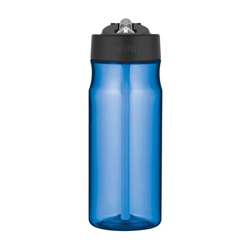Hydratační láhev s brčkem - světle modrá