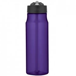 Hydratační láhev s brčkem - fialová