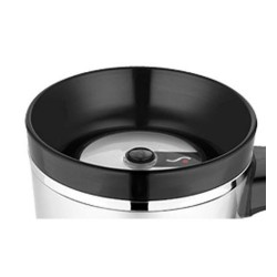 Tlačidlový uzáver pre vodotesný termohrnček - čierná