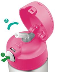 Thermos Funtainer - termosky pro děti - otvírání